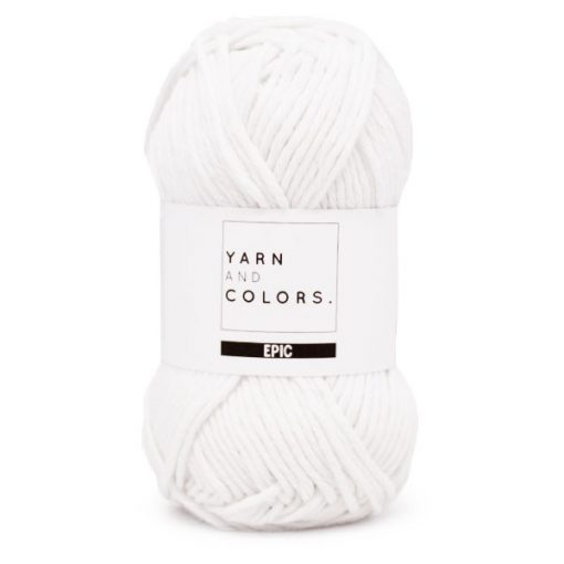 yarns and colors epic white