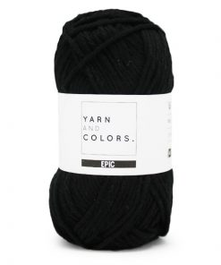 Yarns and colors epic black