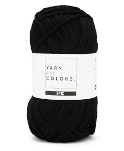 Yarns and colors epic black 100