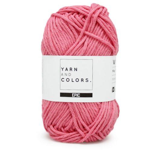 yarns and colors peony pink
