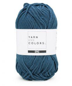 yarns and colors petrol blue
