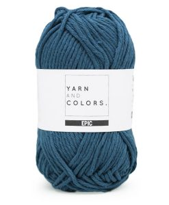 yarns and colors petrol blue