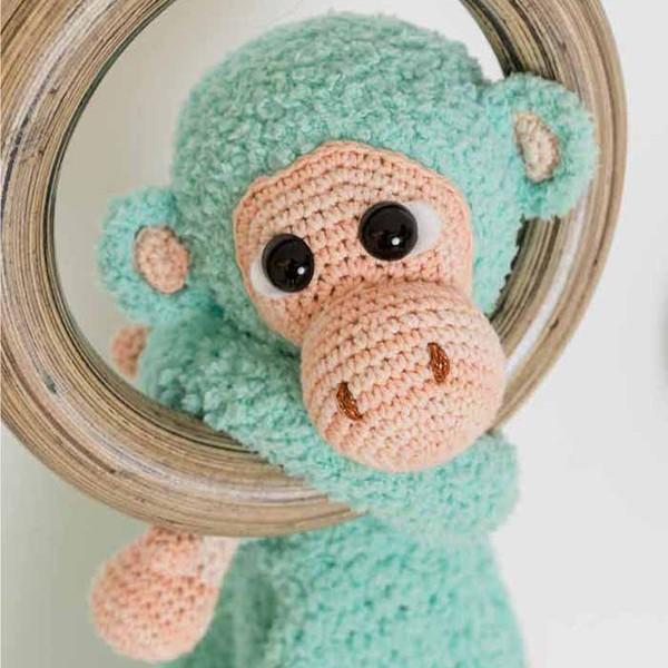Garenpakket Woolytoons Knuffeldeken Abel de aap met gratis vulling!