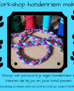 workshop hondenriem knopen