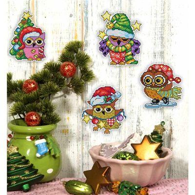Kerst borduurpakket Christmas Birds